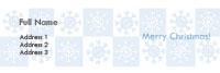 Snow Flakes Address Label Template